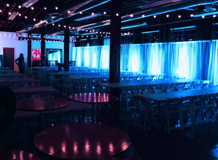 event lighting and drapery
