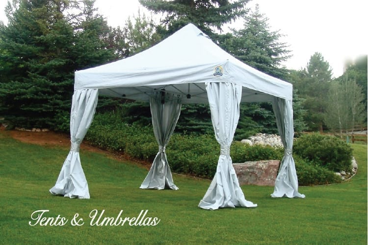 tent rentals and umbrella rentals