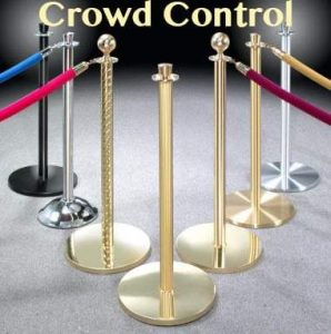 stanchions and crown control