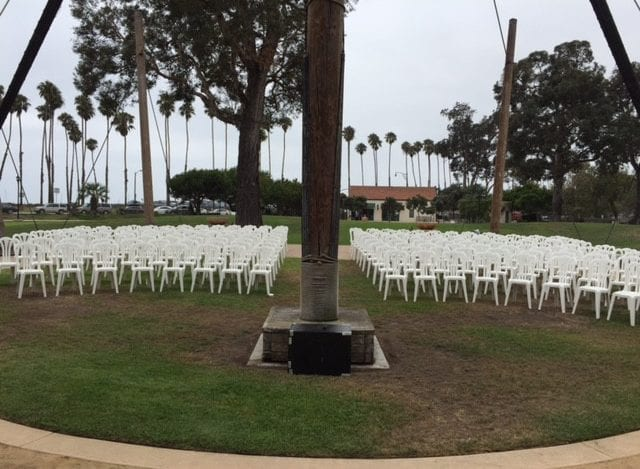 Chase Palm Park Deck Santa Barbara Wedding