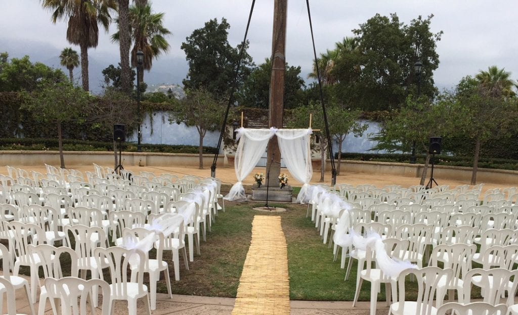 Chase Palm Park Wedding Ceremony Chairs