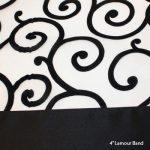 Black & White Organza Swirl