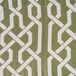 Lattice Avocado Reverse Jacquard