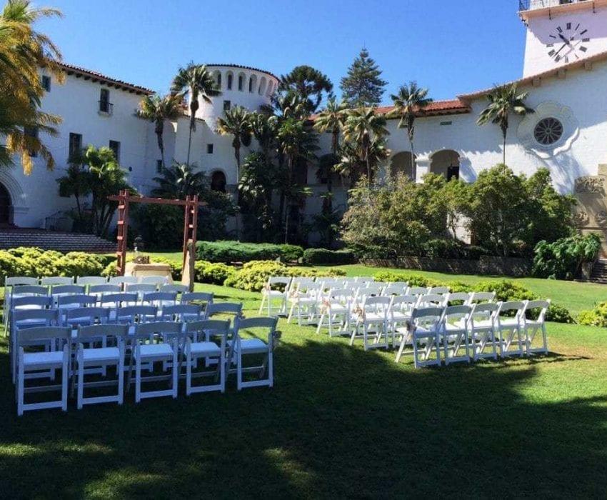 Santa Barbara Courthouse Wedding Ceremony Chairs
