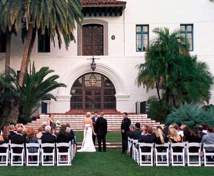 Sunken Gardens Wedding Ceremony Santa Barbara