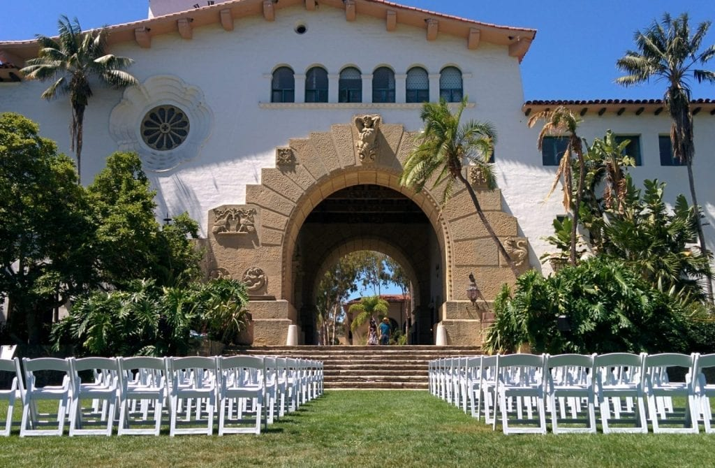 santa barbara courthouse ceremony tower view