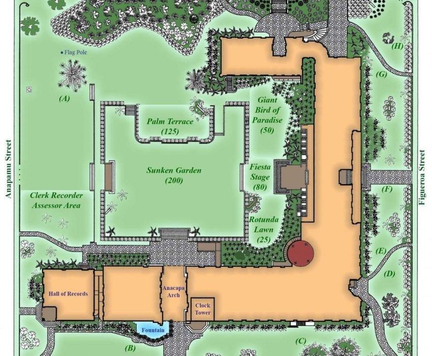 santa barbara courthouse wedding locations map