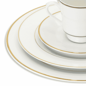 white china rentals double gold