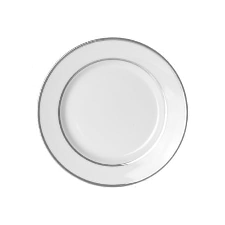 Double Platinum White Bread & Butter Plate 6 Inch