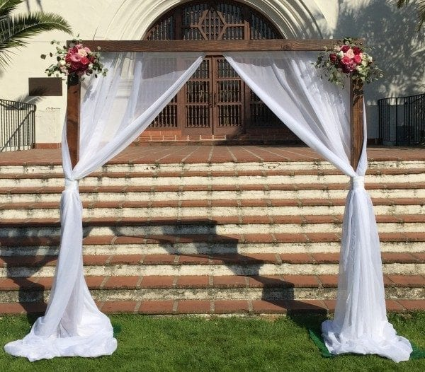 Wood Wedding Arch