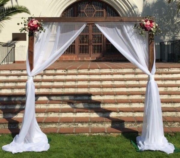 Wood Wedding Arch Rental | Just 4 Fun Party Rentals Santa Barbara