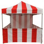 Tent Sidewall Red & White Stripe