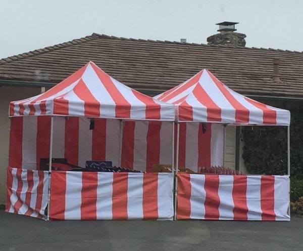 8×8 Carnival Tent Red u0026 White & 8x8 Carnival Tent - Just 4 Fun Party Rentals Santa Barbara 805-680 ...
