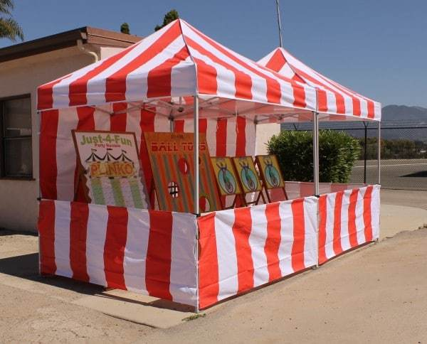 Full Carnival Tent Package & Full Carnival Tent Package - Just 4 Fun Party Rentals Santa ...