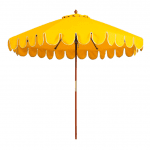 Lemon Yellow Scalloped Umbrellas