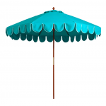 Ocean Blue Scalloped Umbrellas