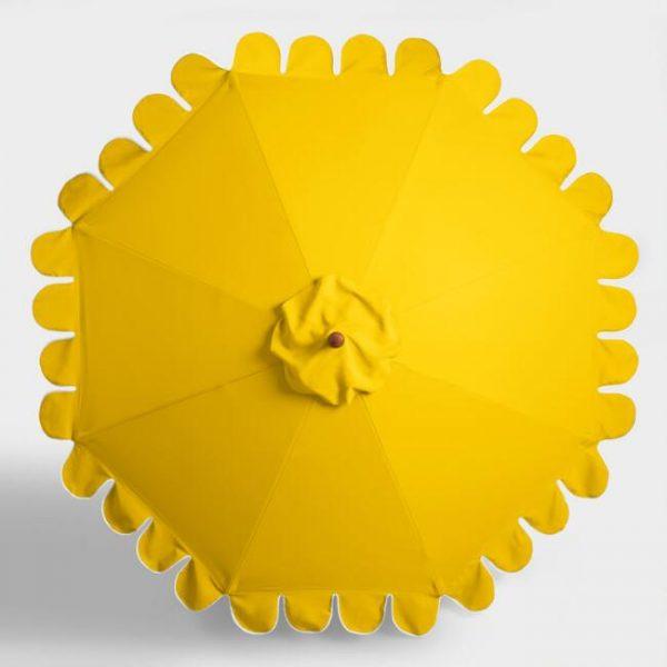 Lemon Yellow Scalloped Umbrellas