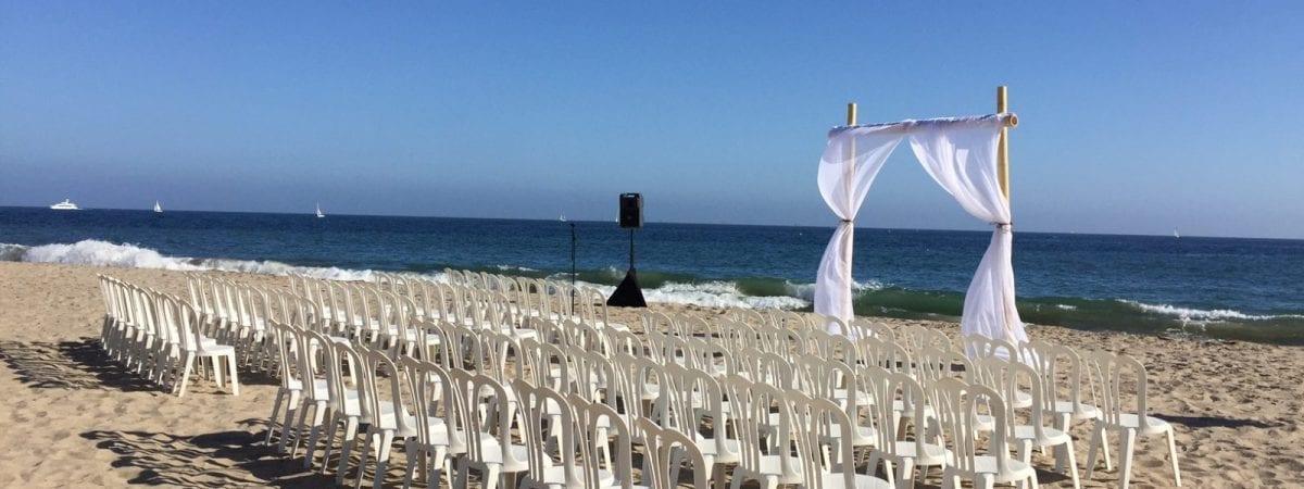 santa barbara beach wedding rentals