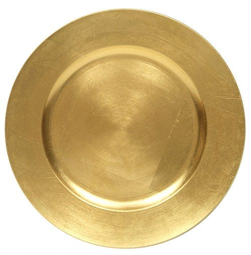 Melamine Gold Charger Plate