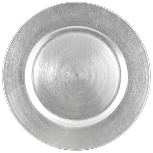 Melamine Silver Charger Plate