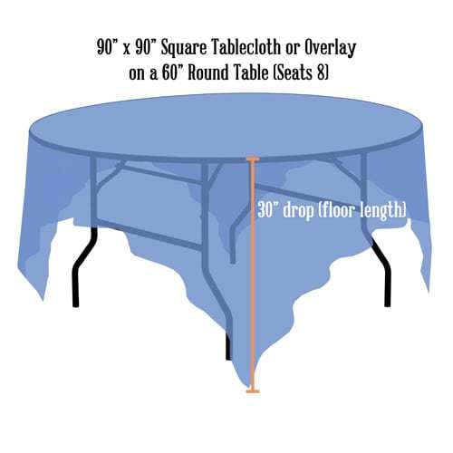 Linen Sizing Guide Just 4 Fun Party Rentals