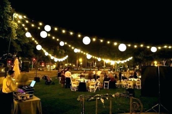 Paper Lanterns on String Lighting