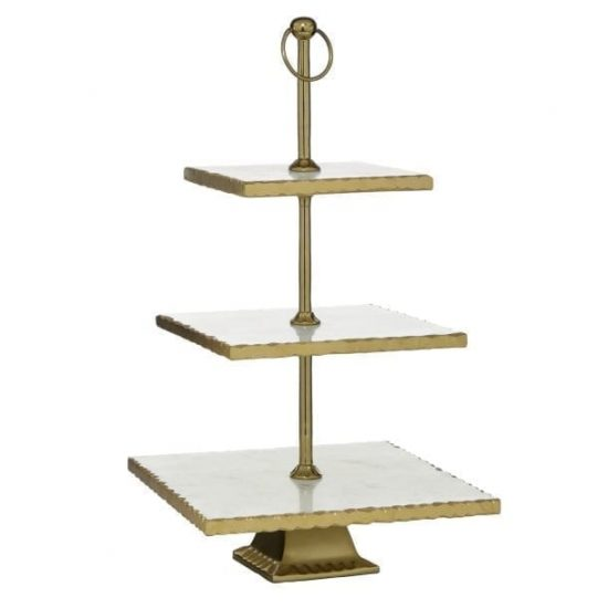 Marble & Gold 3 Tier Stand